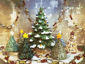 Vintage Christmas Tree Painting Party