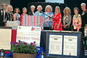 Preston Trail NSDAR Gala Presents Awards, New Officers and New Members
